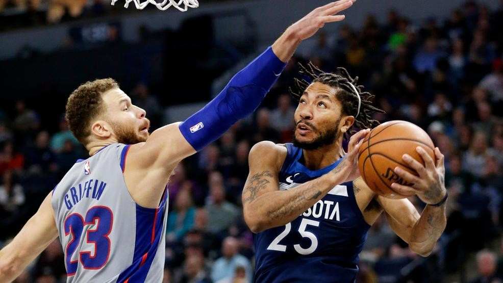 nouveau style b92fd 2fb5b Pistons to sign Derrick Rose on 2-year deal   WEYI