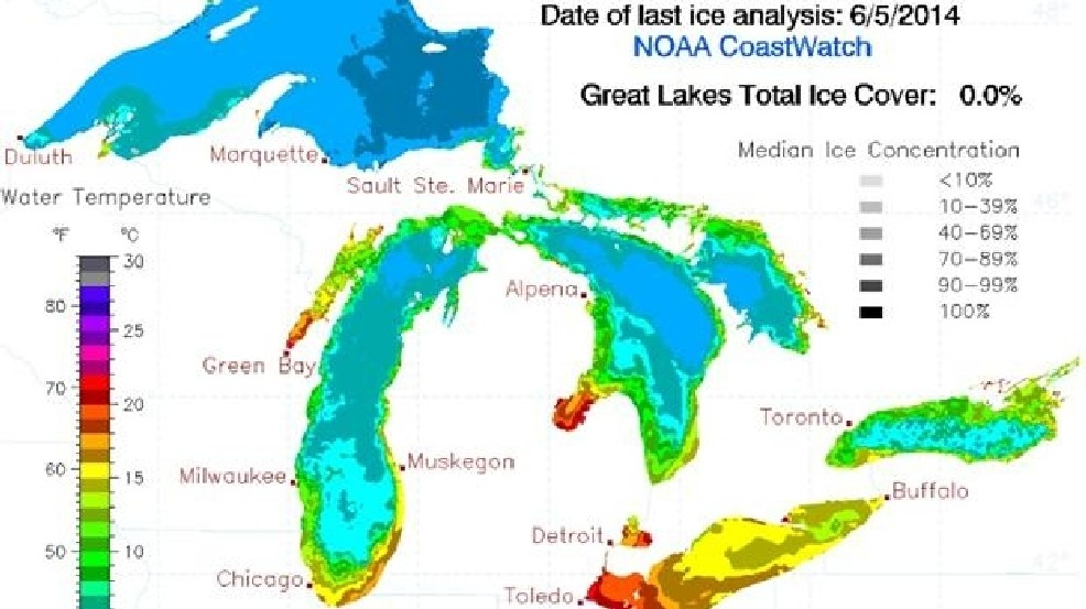 The Great Lakes are FINALLY ice free! | WEYI