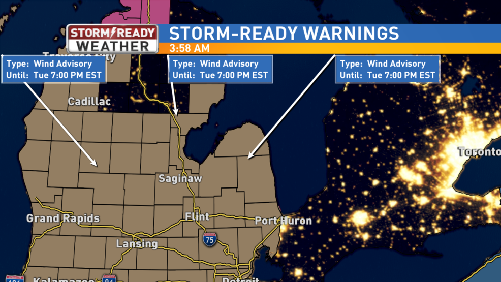 Wind Advisory In Effect For Mid Michigan Weyi