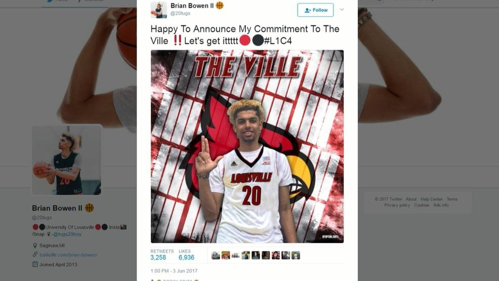 the best attitude ca562 8edfc Bowen surpises, commits to Louisville over M.S.U. | WEYI