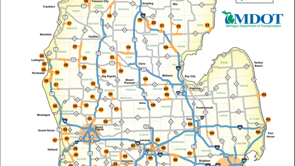 Mdot Construction Map MDOT releases 2018 state construction map | WEYI