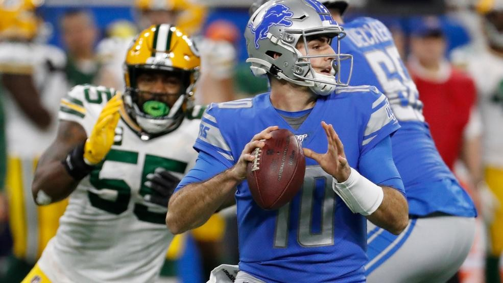 Packers Barely Beat Lions 23 20 To Earn First Round Bye Weyi